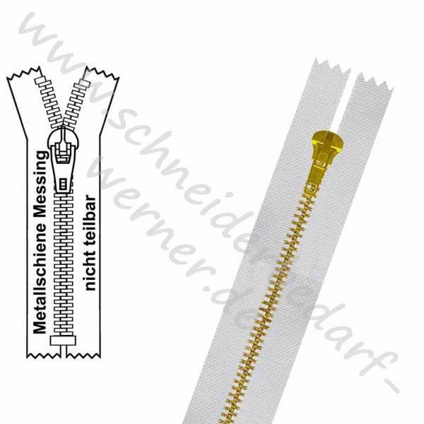 Reißverschluss für Hosen - 4,5 mm Metallschiene - 1-Weg - Nicht Teilbar