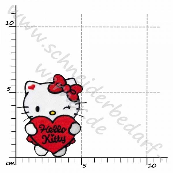 Applikation zum Aufbügeln (Hello Kitty)
