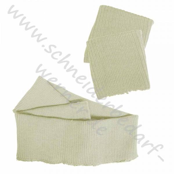 1 Paar Ärmelbündchen + 1 Bundabschluss (Strickbündchen und Strickbund)