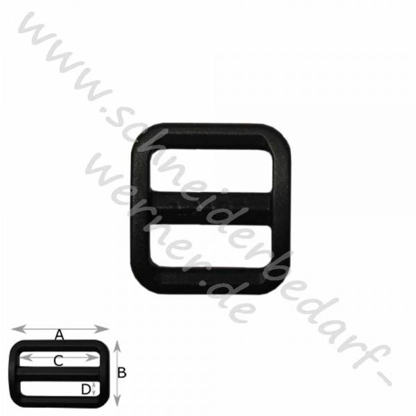 Stegschnalle für Gurtband (Kunststoff)