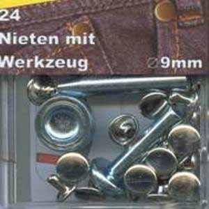 Nieten 9 mm (rund / 24 Stück)